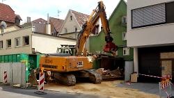 Abbruch von drei Gebäuden in der Beinstraße