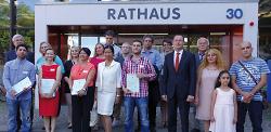 Einbürgerungsfeier im Rathaus