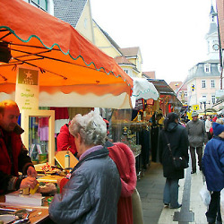 Marktstände in Aalen