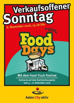 zweite runde f r die aalener food days verkaufsoffener sonntag am 6 november stadt aalen. Black Bedroom Furniture Sets. Home Design Ideas