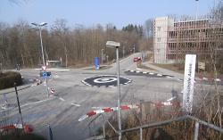 Mini-Kreisverkehr Rombacher Straße