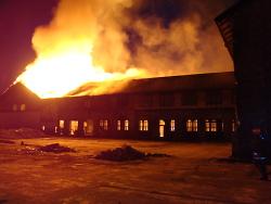 Großbrand auf dem Stadtoval