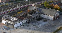 Luftbild vom Stadtoval
