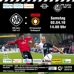 Drittligaspiel VfR Aalen –  SG Sonnenhof-Großaspach