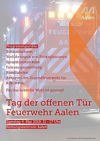 Plakat zum Tag der offenen Tür der Feuerwehr