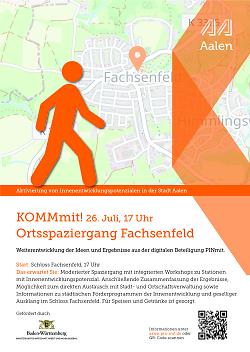 """Auf diesem Bild ist der Flyer zur Aktion """"Pinmit"""", einem Bürgerbeteiligungsformat der Stadt Aalen, für Fachsenfeld zu sehen."""