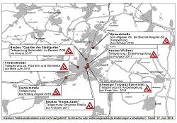 Aktueller Baustellenplan der Stadt Aalen für Juni 2016