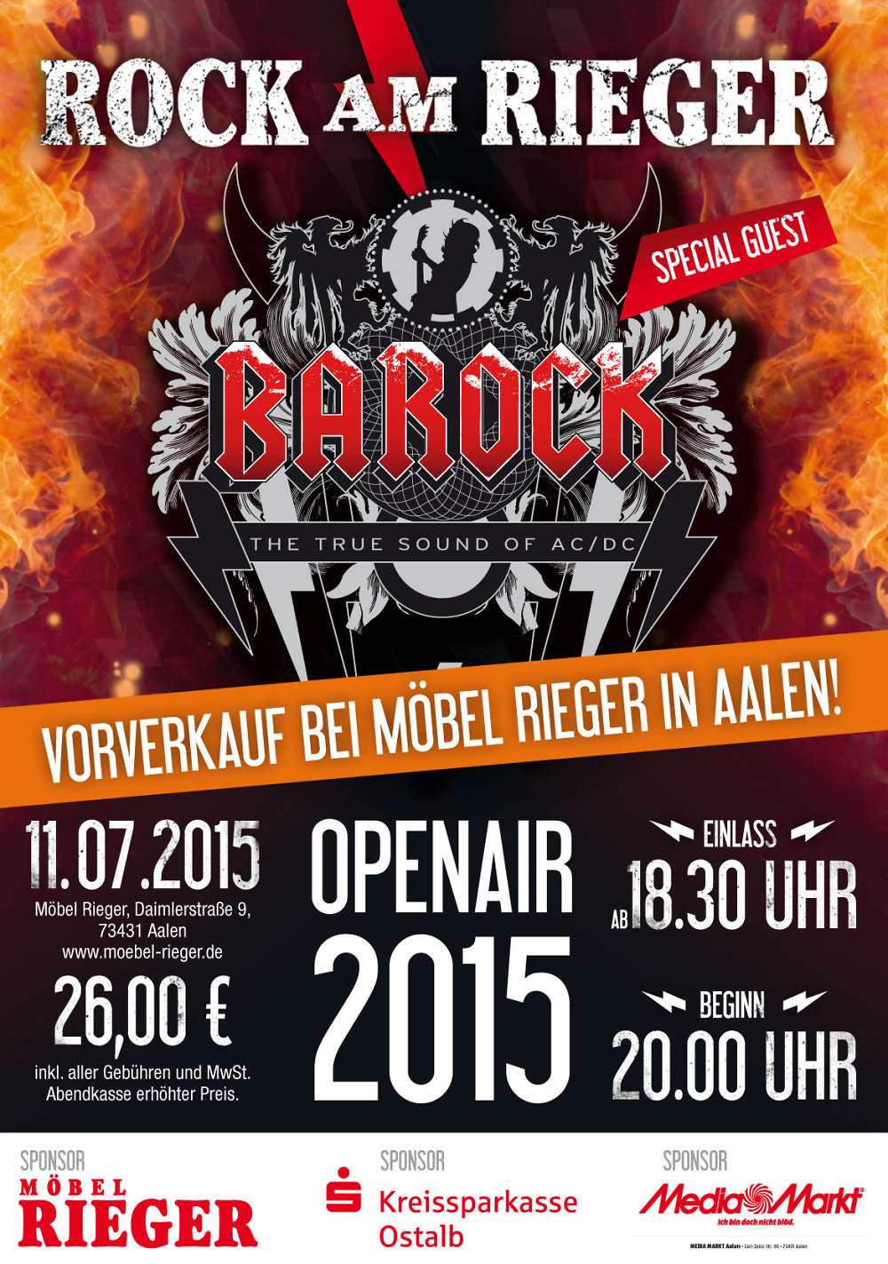 barock europas gr te ac dc tribute show in aalen. Black Bedroom Furniture Sets. Home Design Ideas