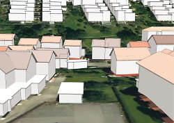 Screenshot 3D-Stadtmodell