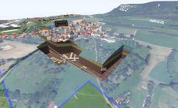 Screenshot 3D-Rundflug im Tiefen Stollen