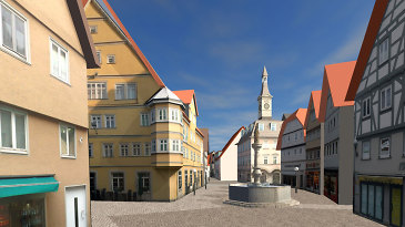 Aalen in 3D im Geodatenportal - Screenshot