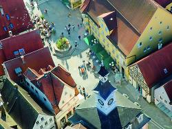 Aalener Marktplatz von oben
