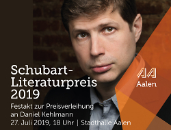 Preisverleihung Schubart-Literaturpreis 2019