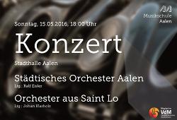 Gemeinsames Konzert des Städtischen Orches-ters und des Orchesters aus Saint Lo