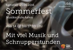 Sommerfest und Tag der offenen Tür  der Musikschule der Stadt Aalen