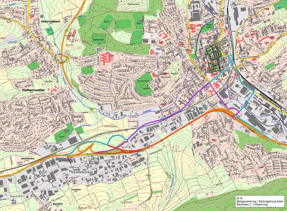 Ostalbkreis Karte.Fahrbahn Und Bauwerkssanierung Auf Der B19 Bauphase 2 Stadt Aalen