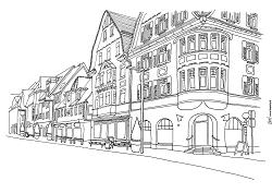 So könnte die Bahnhofstraße mit neuer Möblierung aussehen