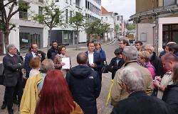 Vor-Ort-Termin des Ausschusses in der Beinstraße.