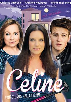 """Auf diesem Bild ist eine Collage der Theatergastspiele Fürth zu sehen, auf dem für """"Celine"""", eine Komödie von Maria Pacôme, geworben wird."""