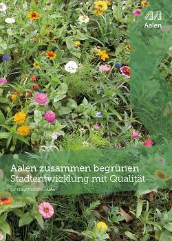 """Auf diesem Bild ist das Cover der Broschüre """"Aalen zusammen begrünen"""" zu sehen."""