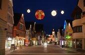 Beleuchtete Innenstadt von Aalen
