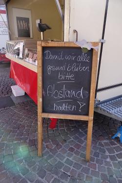 Hinweise zum Besuch des Aalener Wochenmarktes