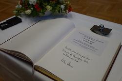 Eintrag Goldenes Buch Klaus Pavel