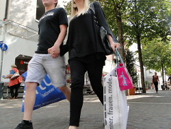 Shopping in der Stadt