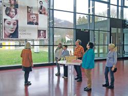 v.l.n.r. Heidi Matzik, Ilse Galbas, Gretel Lingel, Harry Eichler, Uta Steybe, Warnhilde Staudenecker
