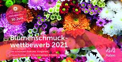 Auf diesem Bild ist das Flyer-Titelbild zum Blumenschmuckwettbewerb 2021 zu sehen.
