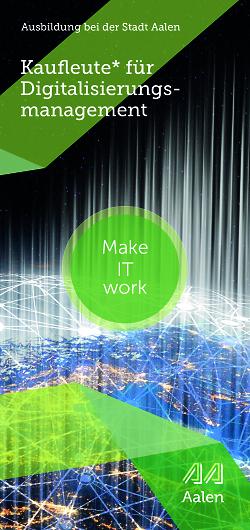 Auf diesem Bild ist das Cover des Flyers zur Ausbildung Kaufleute für Digitalisierungsmanagement zu sehen.