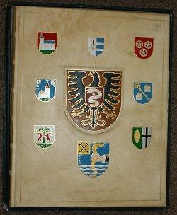 Die Vorderseite des Goldenen Buches der Stadt Aalen