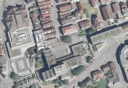 Auf diesem Foto ist ein Luftbild der Stadtverwaltung Aalen zu sehen.
