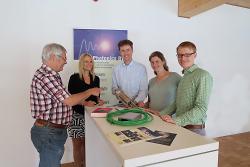 (v.l.n.r.): Joachim Mannhardt, Heike Mall, Dr. Andreas Ehrhardt, Eva Kerwien, Johannes Verst.