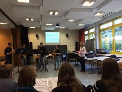 Saxophonquartett macht Schule