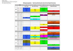 Belegungsplan Gymnastikräume in der Kernstadt