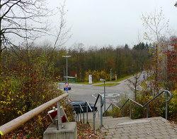 Blick von der Hochschule in Richtung Waldcampus