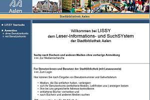 LISSY - der Katalog der Bibliothek Aalen - Stadt Aalen