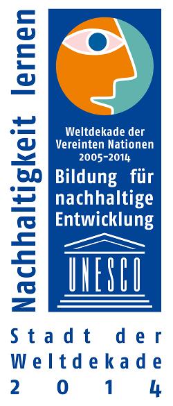 Logo Stadt der Weltdekade 2014