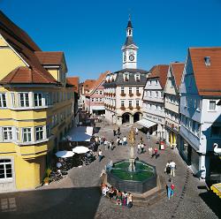 Grußkarte Marktbrunnen und Spionturm