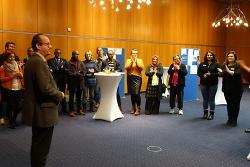 Bürgermeister Karl-Heinz Ehrmann begrüßte die Mitglieder des Intergrationsausschusses.