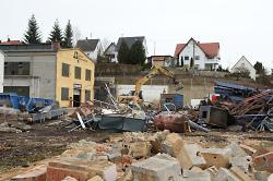 Teile der Betriebsgebäude wurden bereits abgebrochen