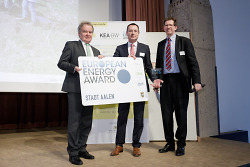 Aalen erhält den European Energy Award verliehen