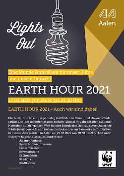 Licht aus für den Klimaschutz: Earth Hour 2021