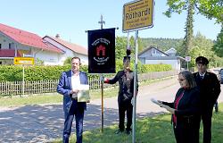 Ortsschild in Röthardt weist auf Kurort hin