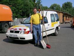 Jürgen Hilgemeier vom städtischen Bauhof