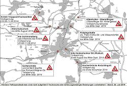 Baustellenplan der Stadt Aalen vom August 2014