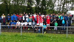 Knapp 100 Spieler nahmen am Fußballturnier teil.