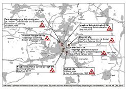 Aktueller Baustellenplan der Stadt Aalen für Dezember 2017
