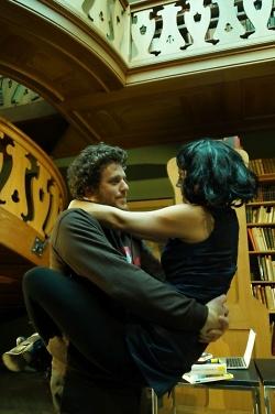 Philipp Dürschmied und Claudia Sutter vom Theater der Stadt Aalen in den Hauptrollen.